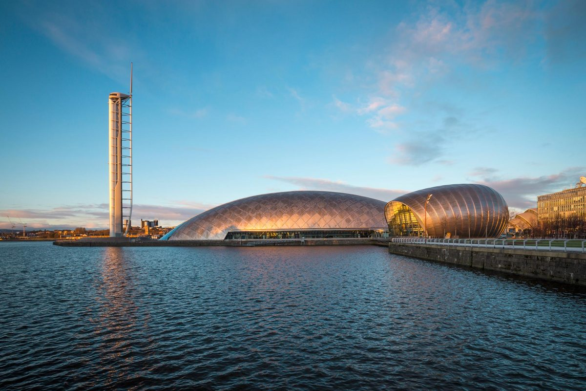 Glasgow Science Centre, on the south bank of the River Clyde, Glasgow.