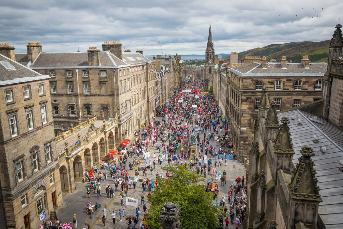 The historic Royal Mile, Edinburgh
