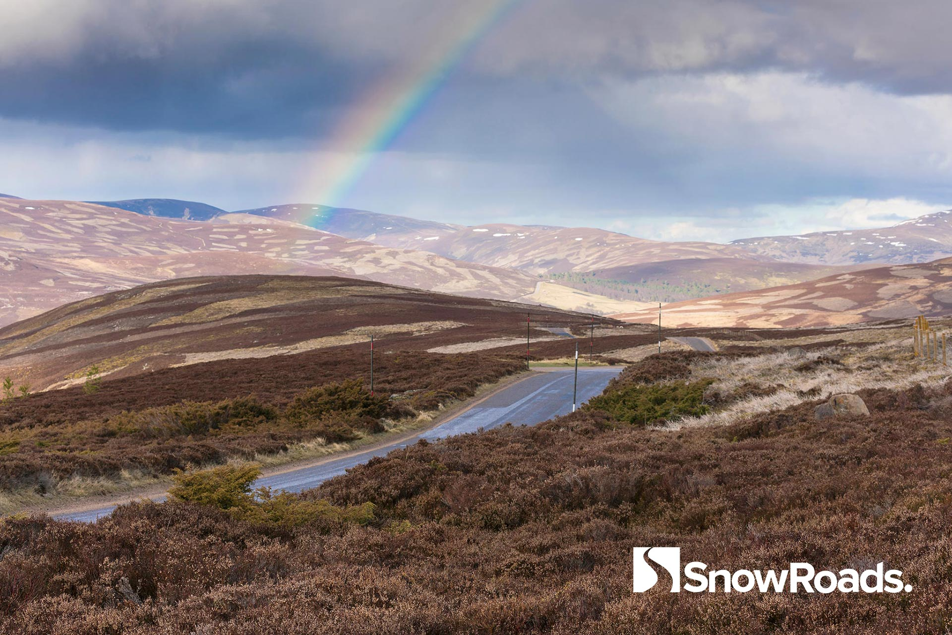The road from Corgarff to Crathie in the Cairngorms National Park