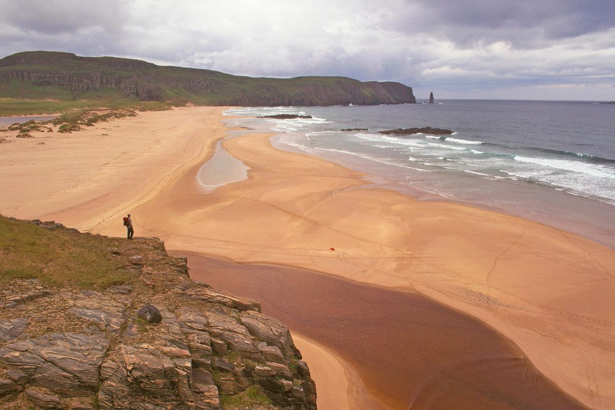 The vast beach of Sandwood Bay, Sutherland