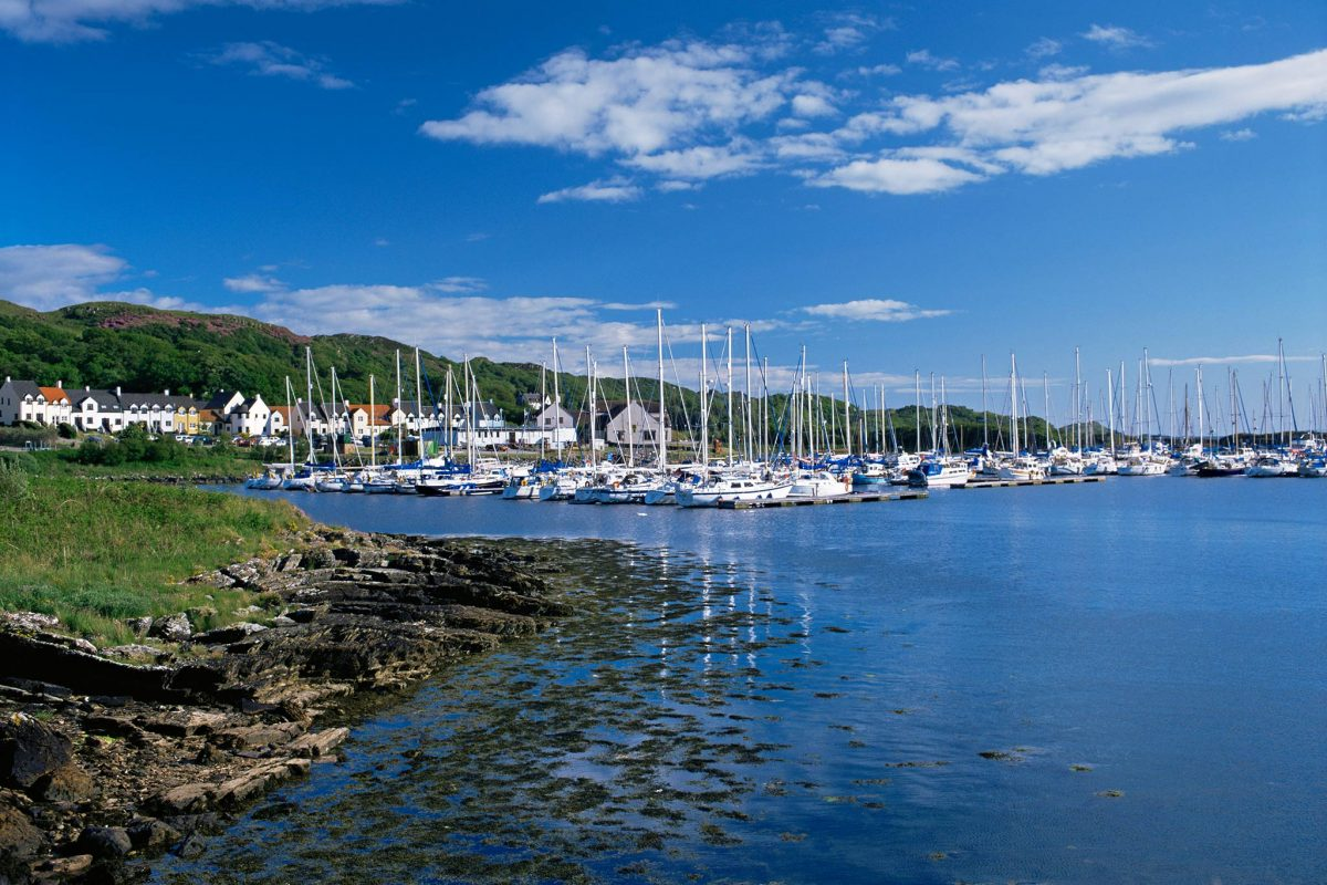 Yachts moored at Craobh Haven, Argyll