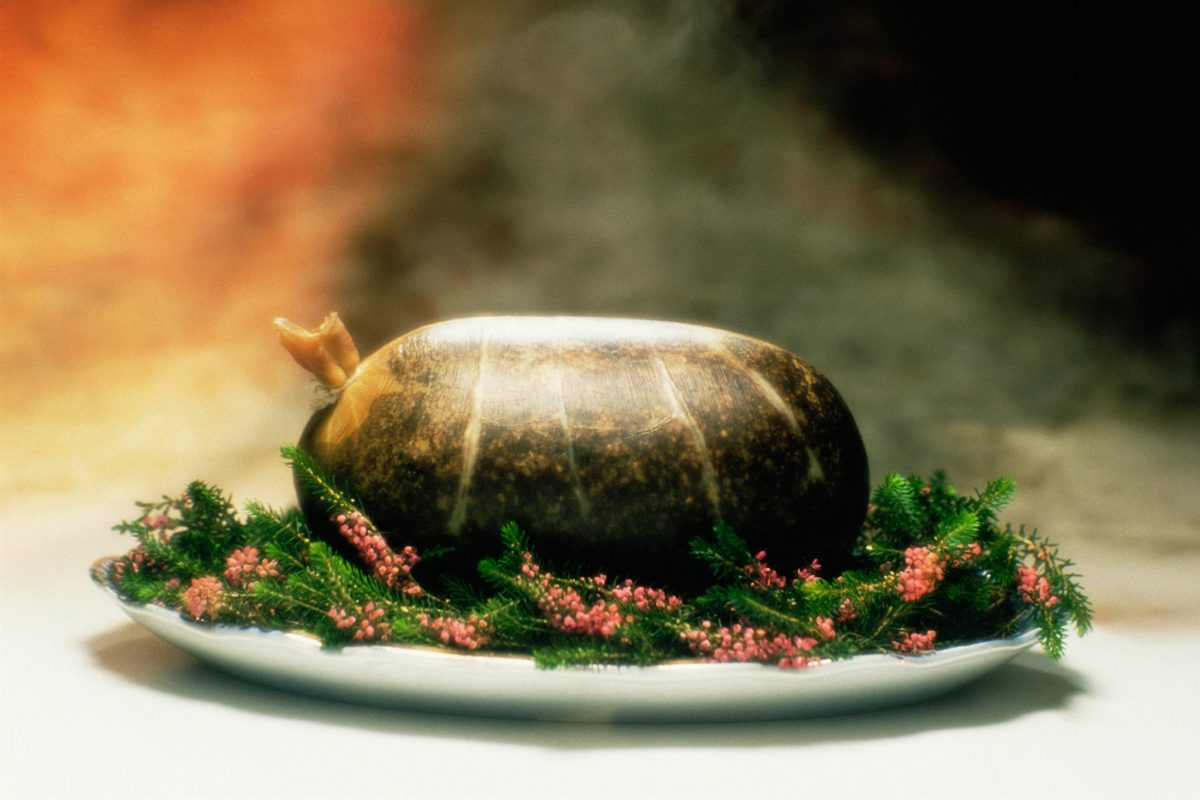 Haggis on a bed of heather