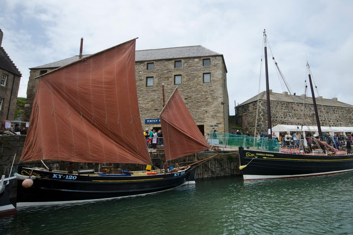 'Fifie' fishing boats at the Scottish Traditional Boat Festival, Portsoy