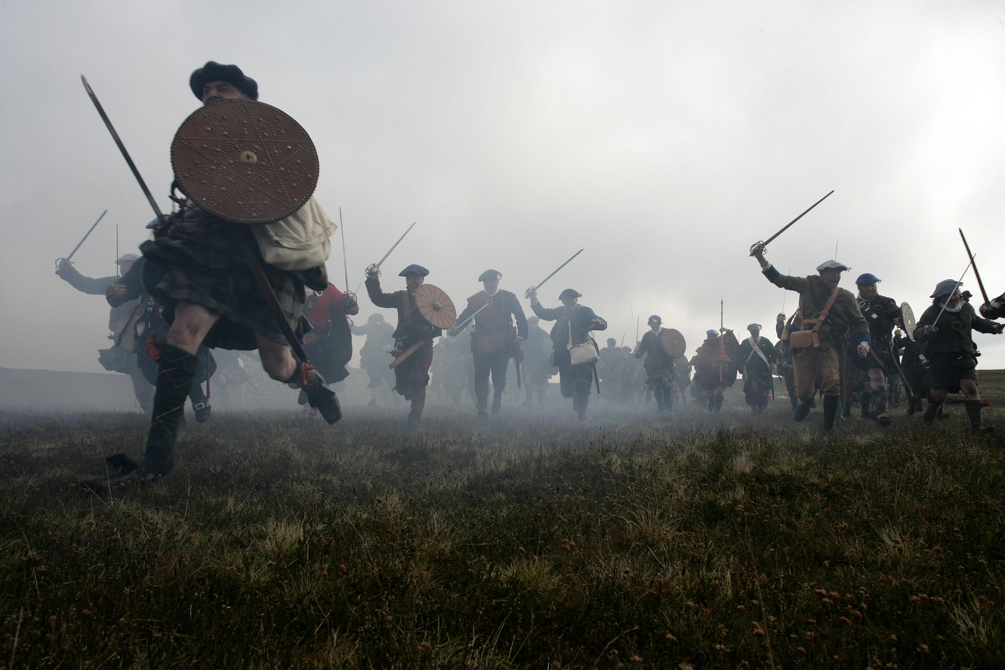 Battle of Culloden reenactment.