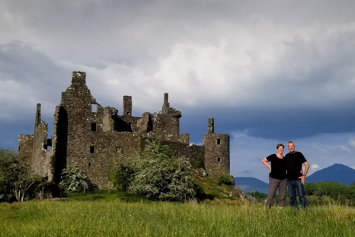 Christian and Rochelle DeBaun at Kilchurn Castle, Loch Awe