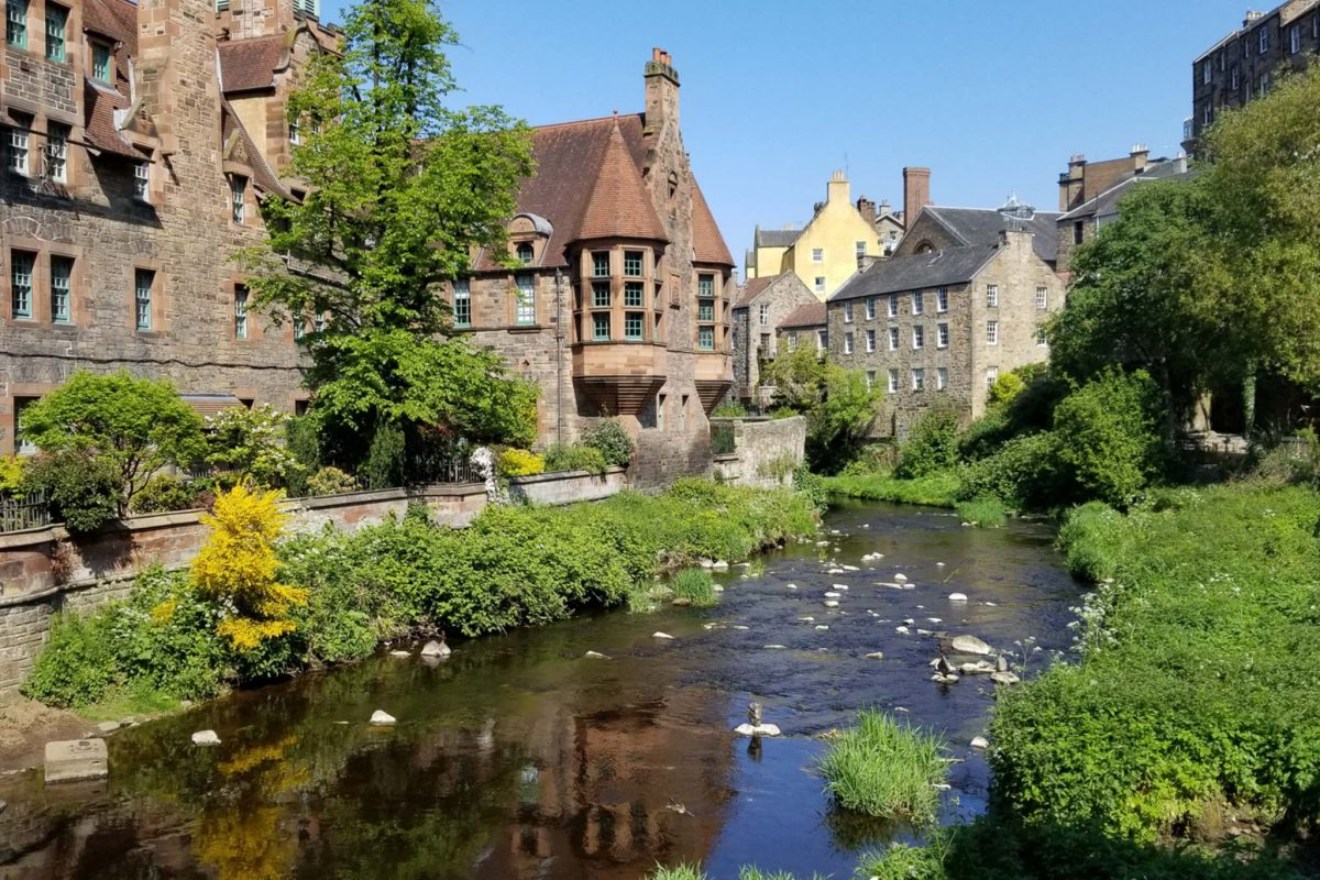 The tranquil Dean Village, near Edinburgh City Centre