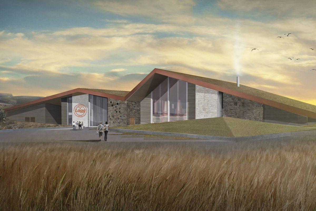 An artists' impression of the new Lagg Distillery, Isle of Arran
