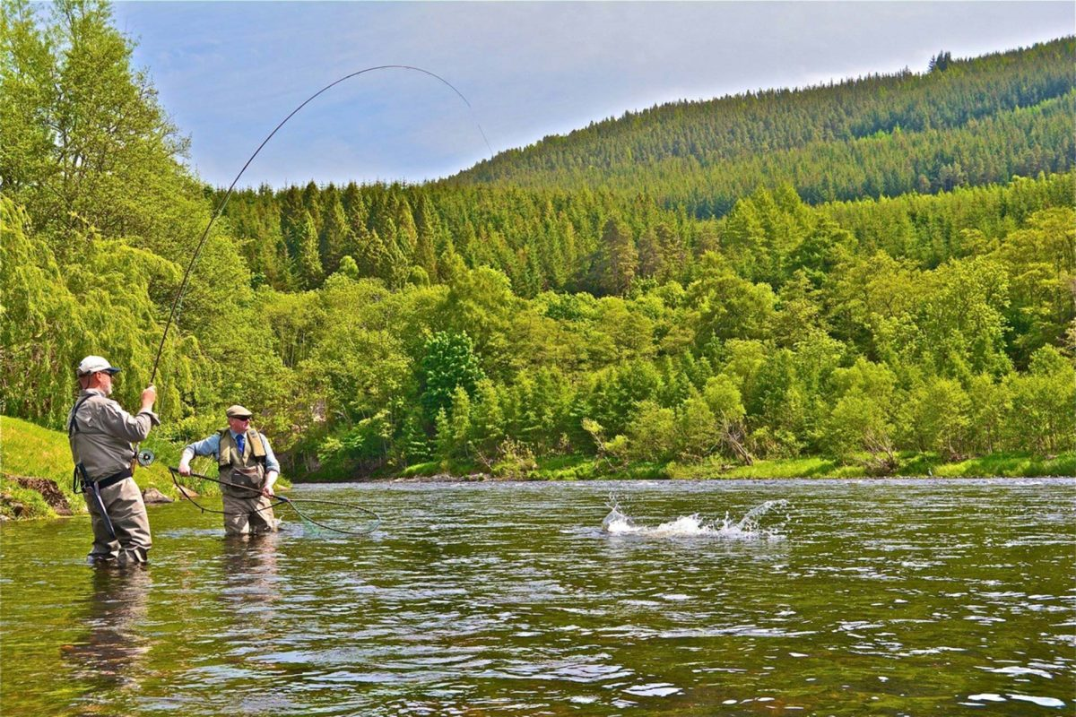 Salmon fishing, River Spey © Spey Fisheries Board