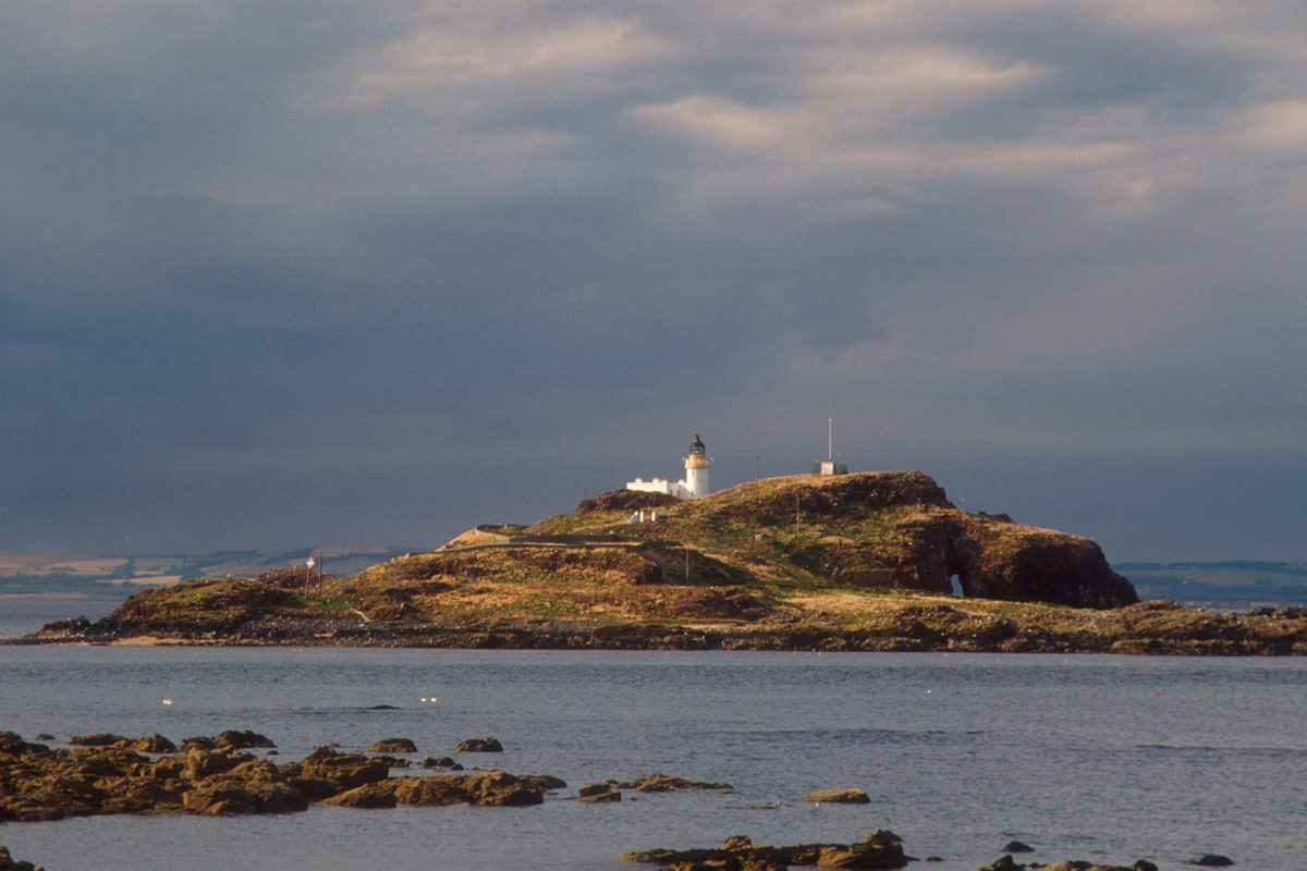 Fidra Island off the coast of East Lothian