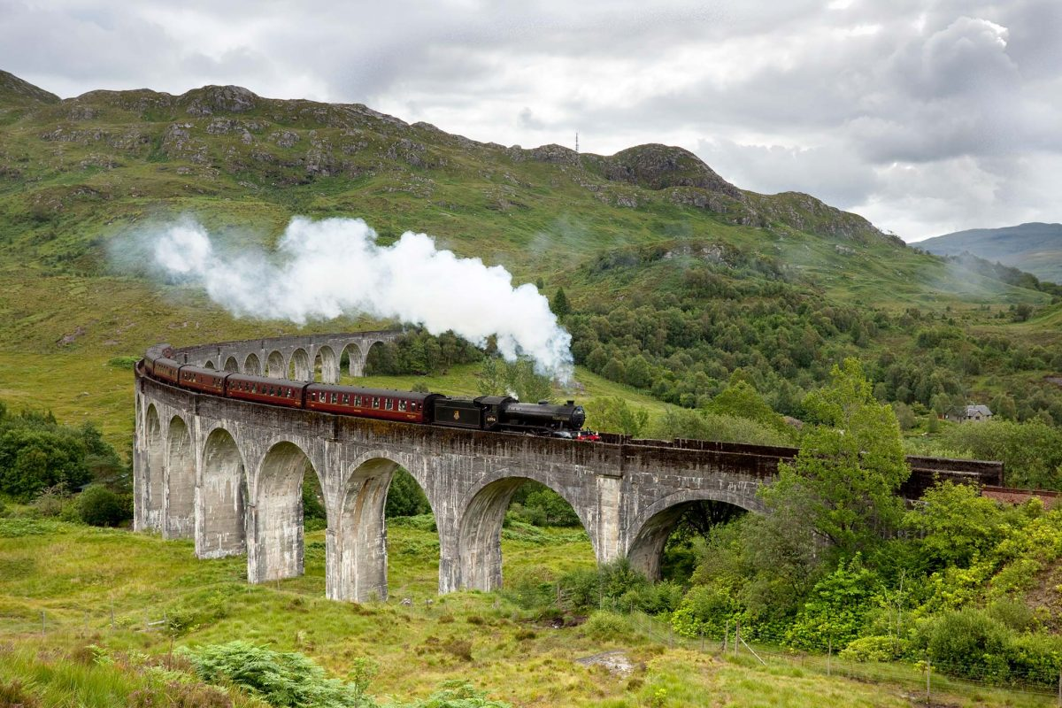 Jacobite Steam Train across the Glenfinnan Viaduct