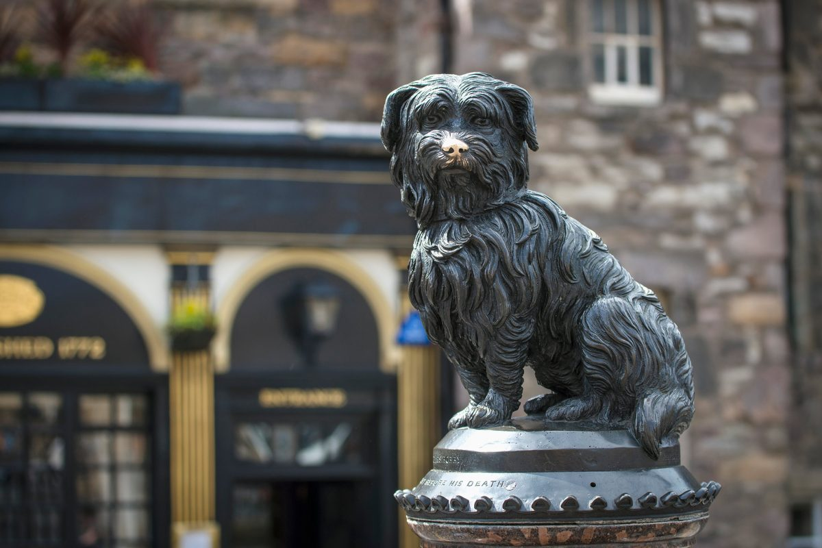 Greyfriars Bobby Statue, Candlemaker Row, Edinburgh