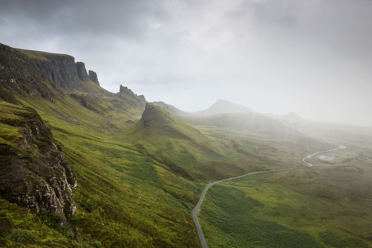 Rain closing in on Trotternish, Isle of Skye