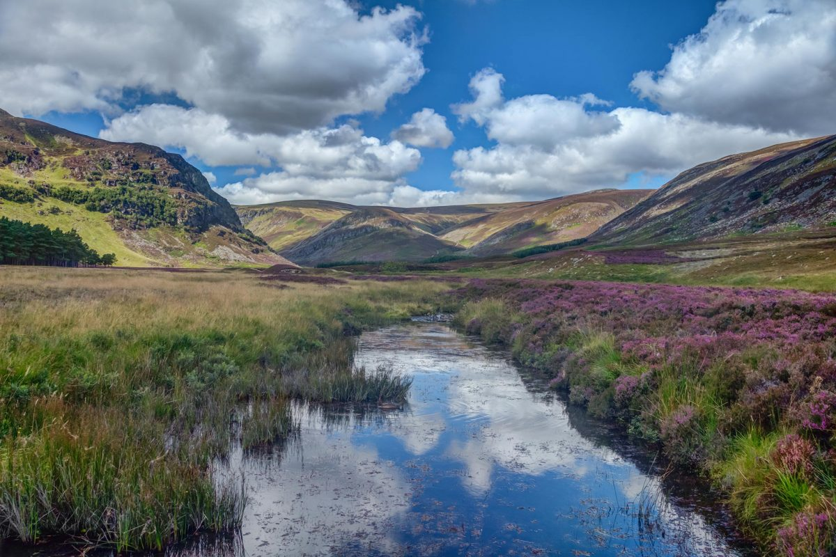 The river and hills of Glen Mark in the Angus Glens
