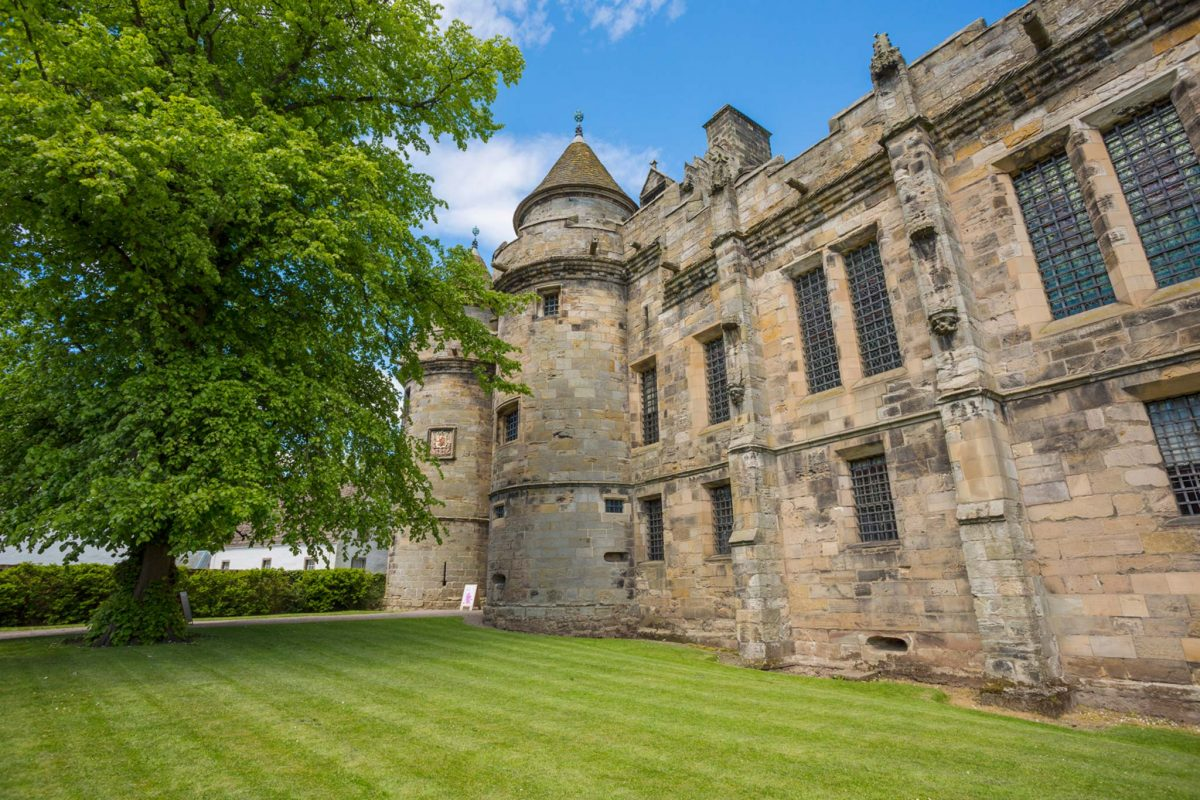 The outside of Falkland Palace in Fife