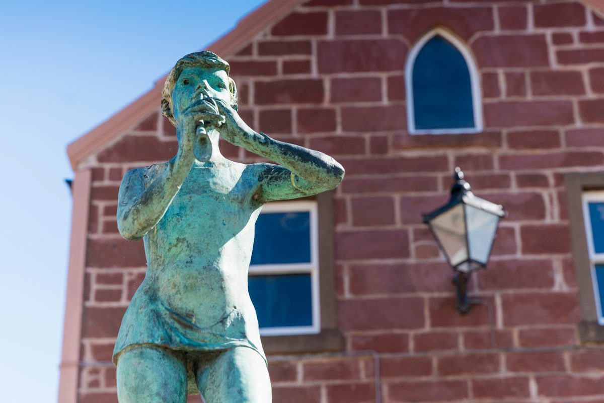 A statue of Peter Pan in Kirriemuir