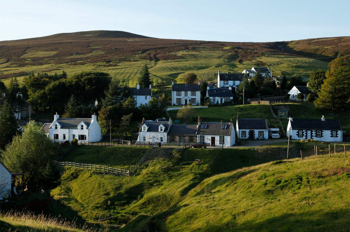 White cottage at Wanlockhead in Dumfries & Galloway