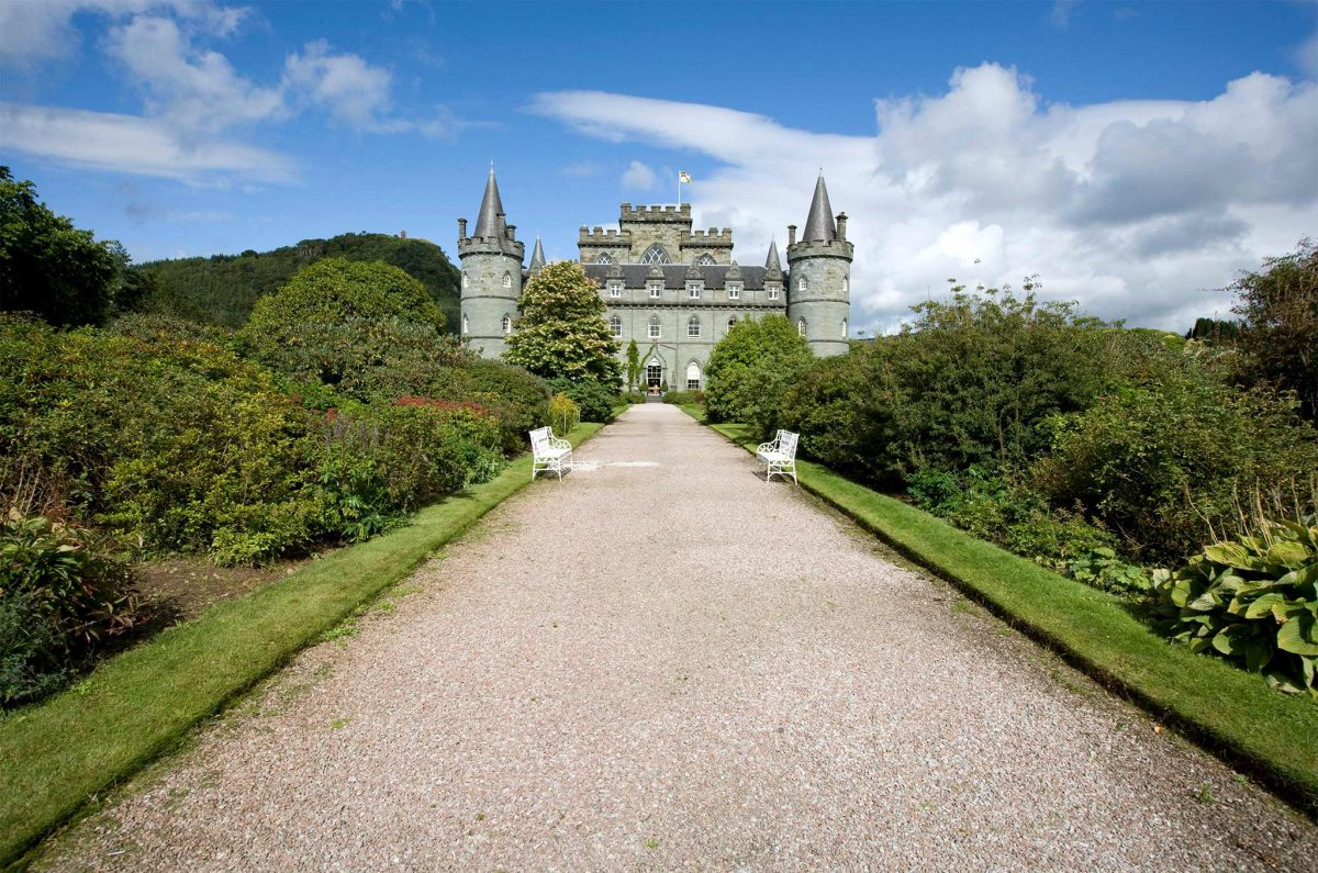 Inveraray Castle home of the Dukes of Argyll
