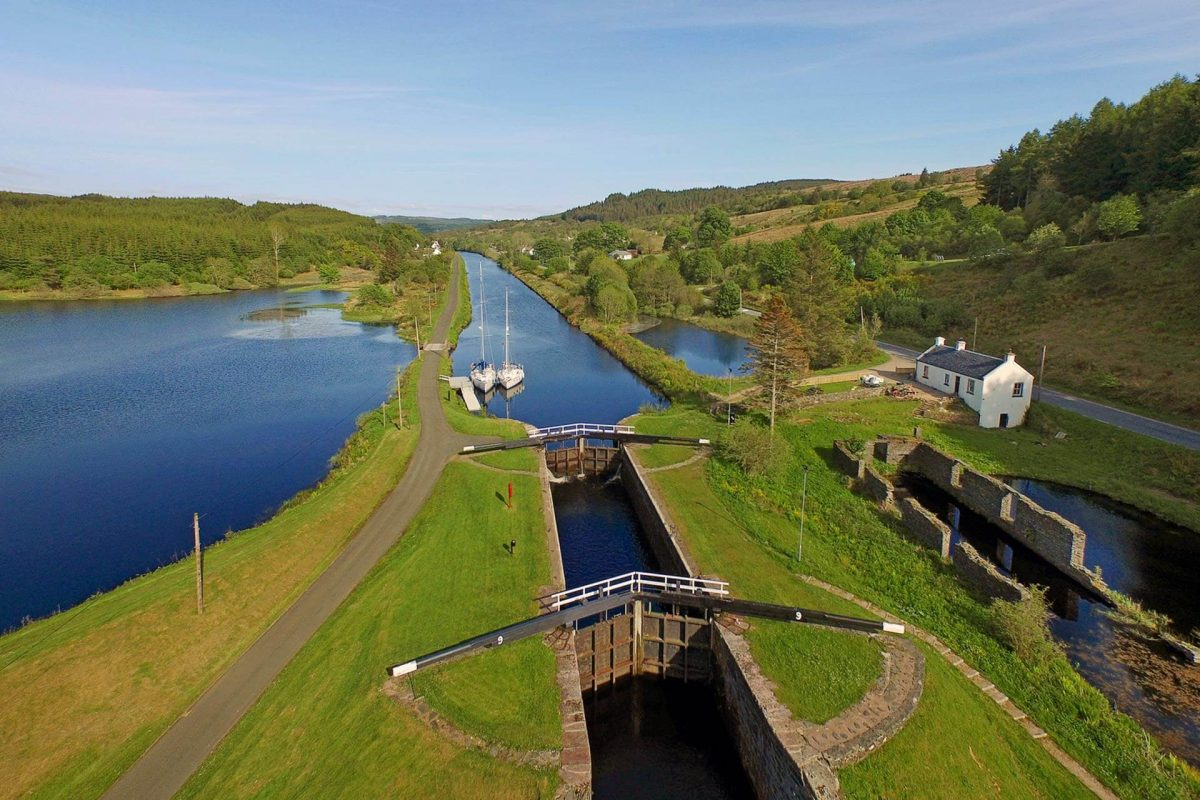 Lock Number 9 at Cairnbaan, Crinan Canal, Argyll