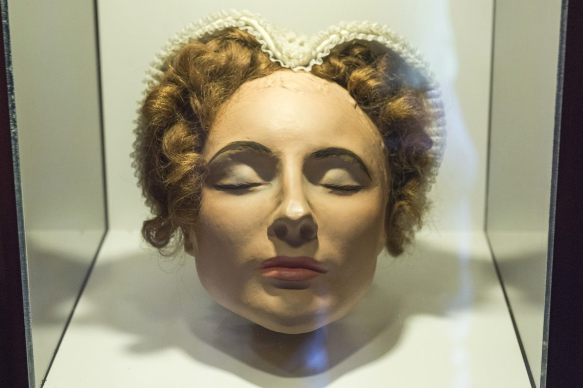 The death mask at Mary Queen of Scots Visitor Centre © Phil Wilkinson