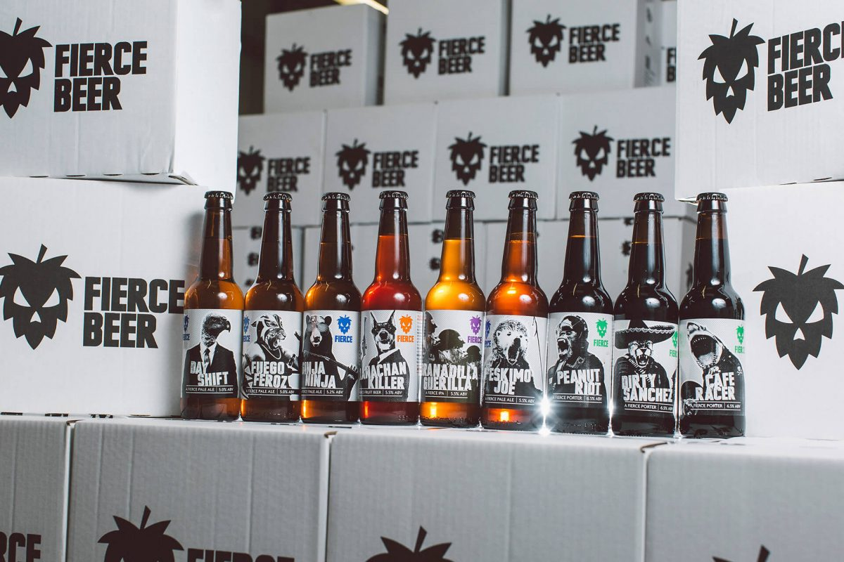 Some of the Fierce Beer range