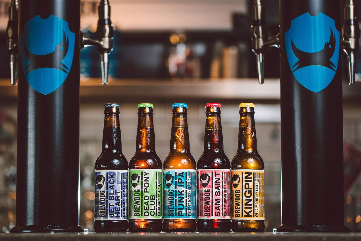 Just some of the delicious beers produced by BrewDog