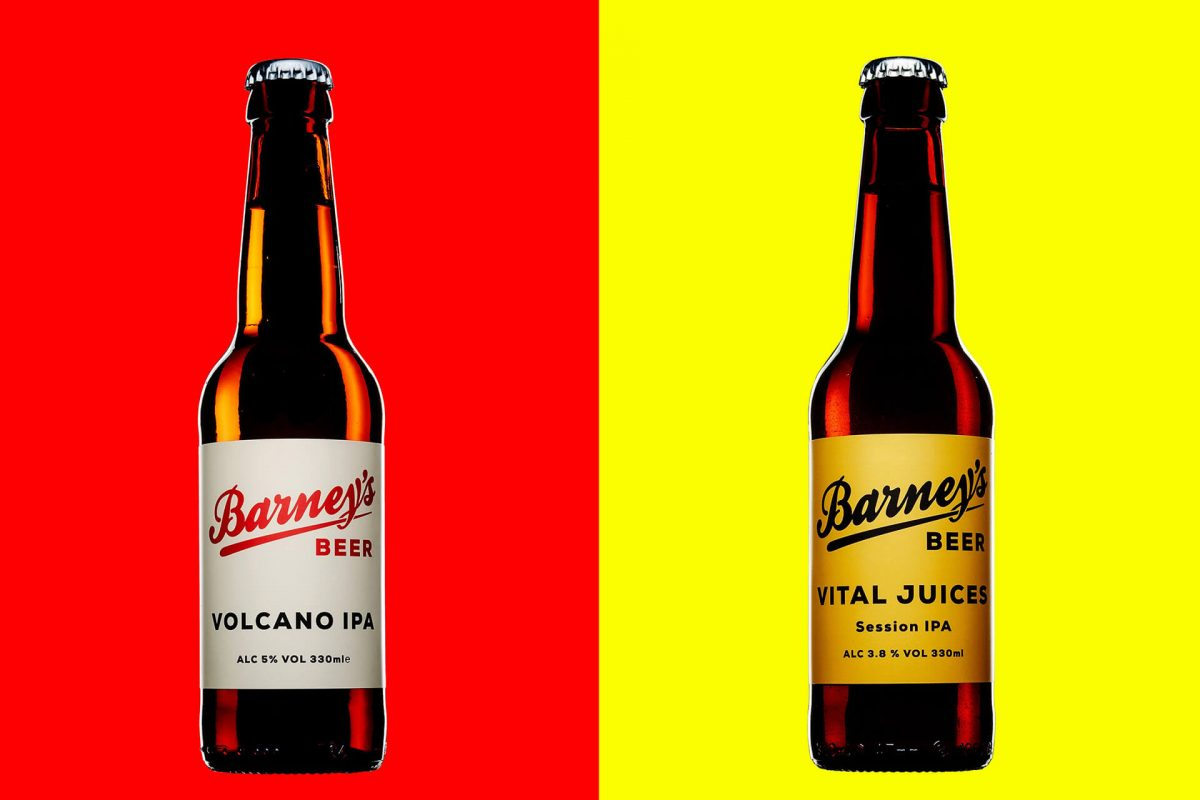 Just two of the fabulous beers you'll find at Barney's Beer