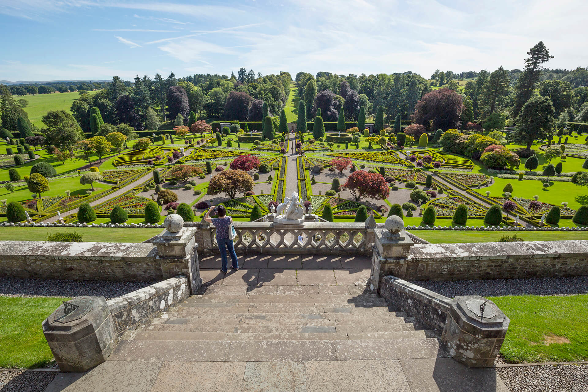 The Castle Gardens at Drummond Castle