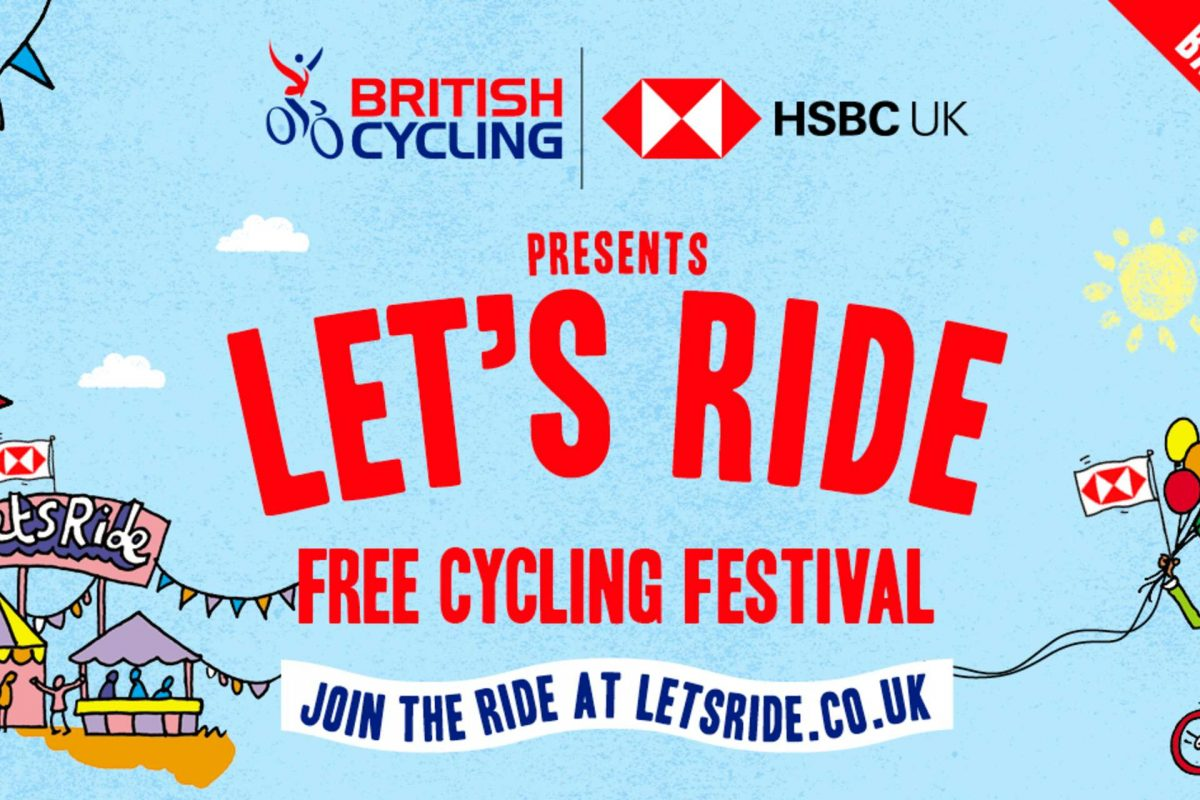Let's Ride Free Cycling Festival poster