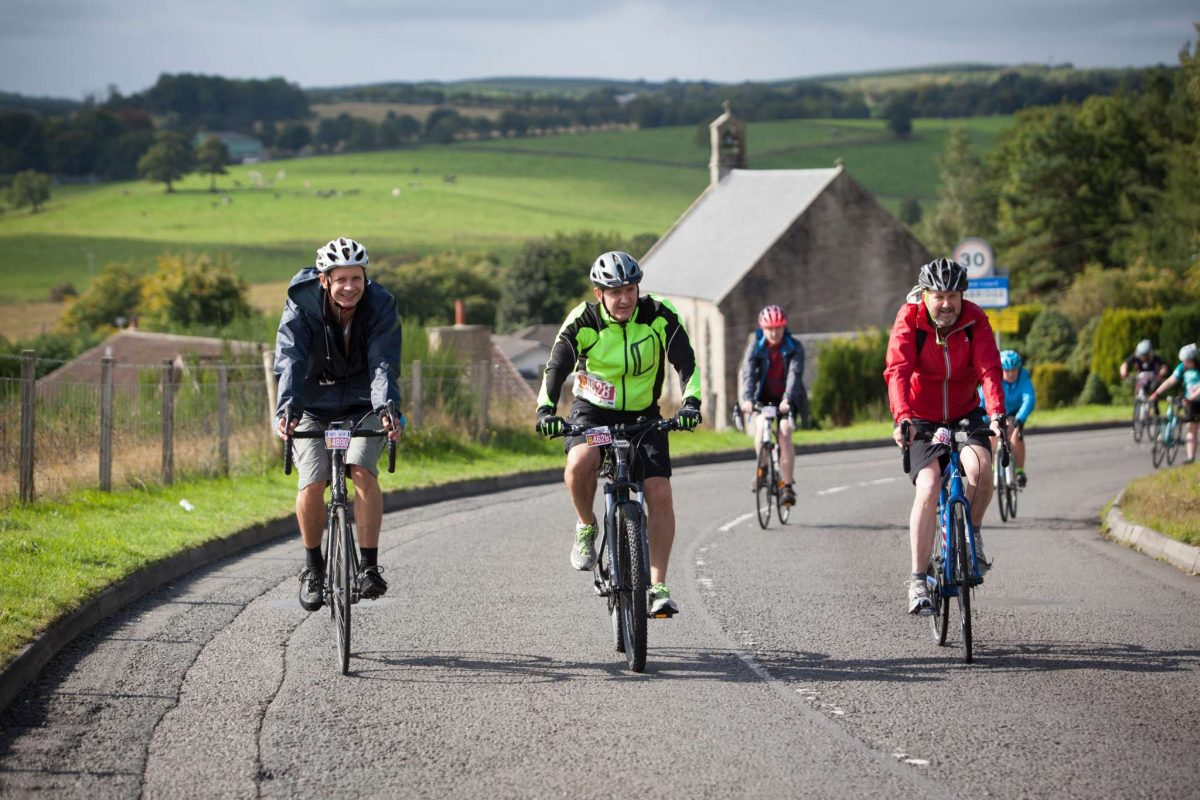 Enjoying the classic challenge on Pedal for Scotland
