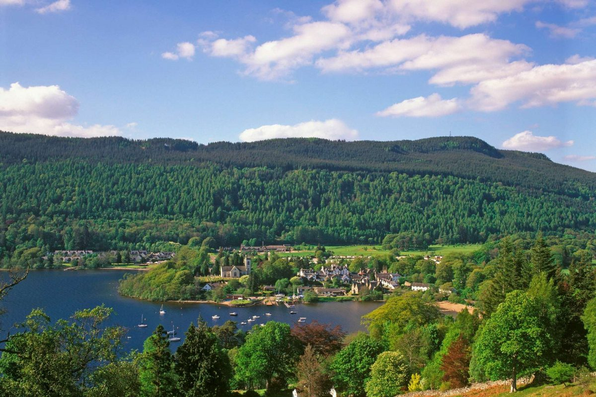 Looking across Loch Tay to the village of Kenmore