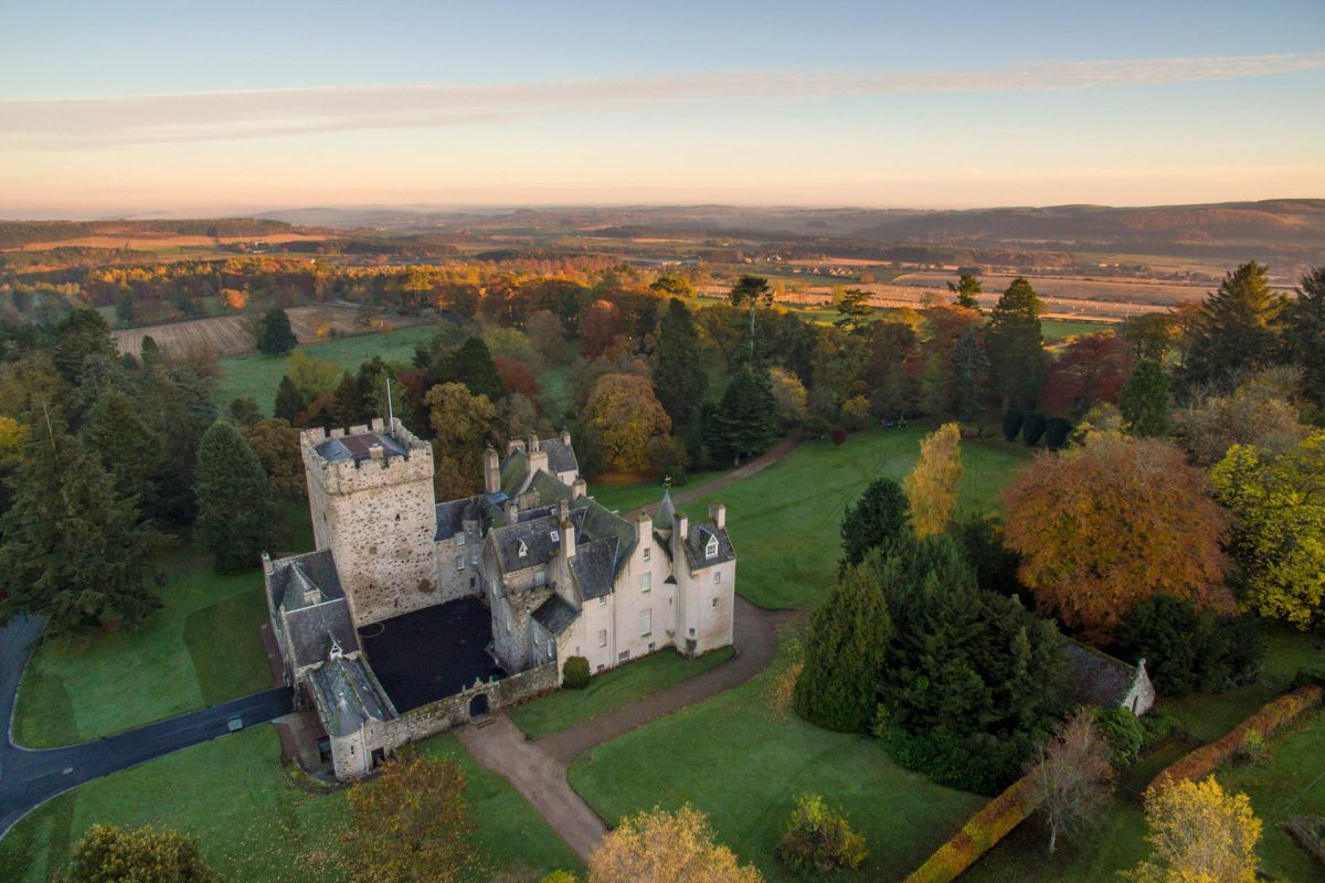 Stunning Drum Castle and Aberdeenshire countryside
