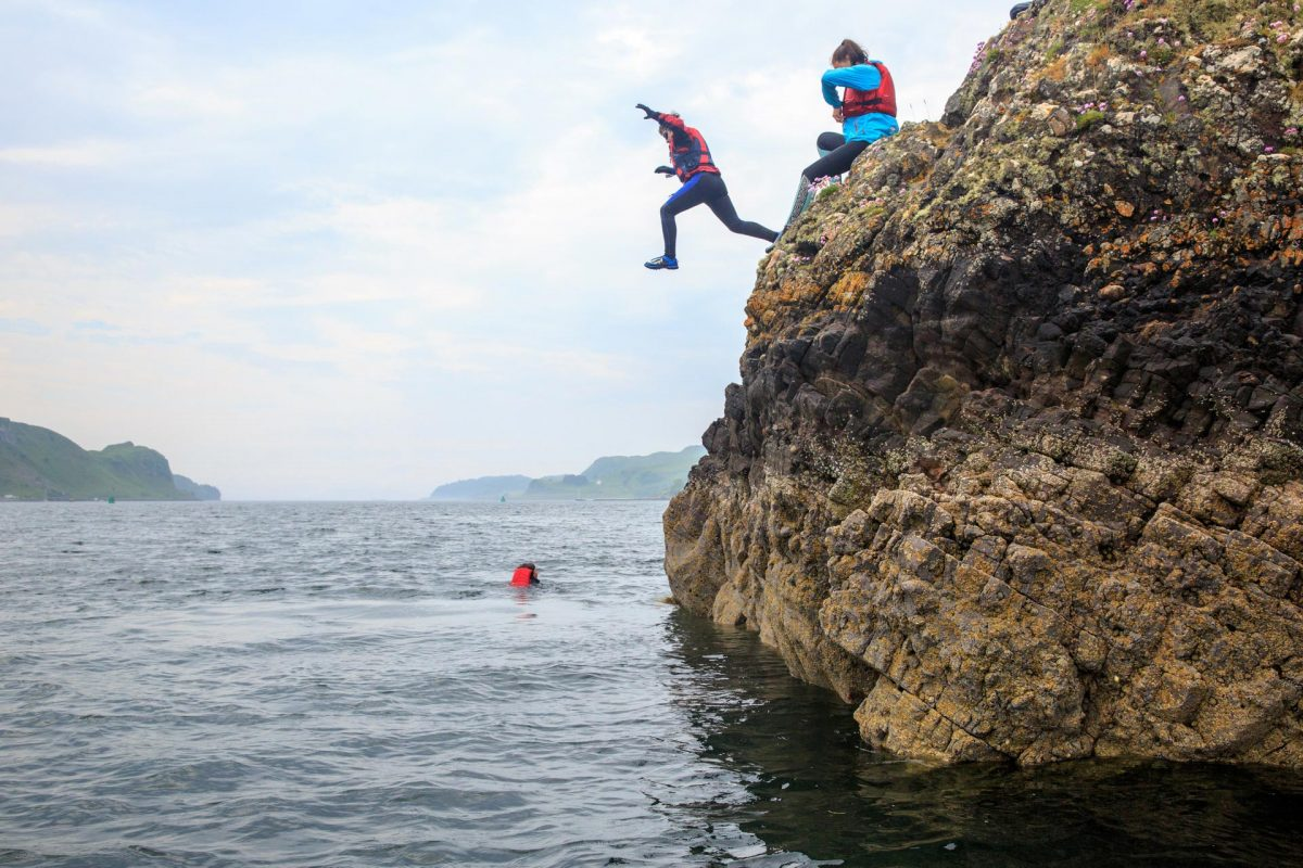 Coasteering near Oban, Argyll & The Isles
