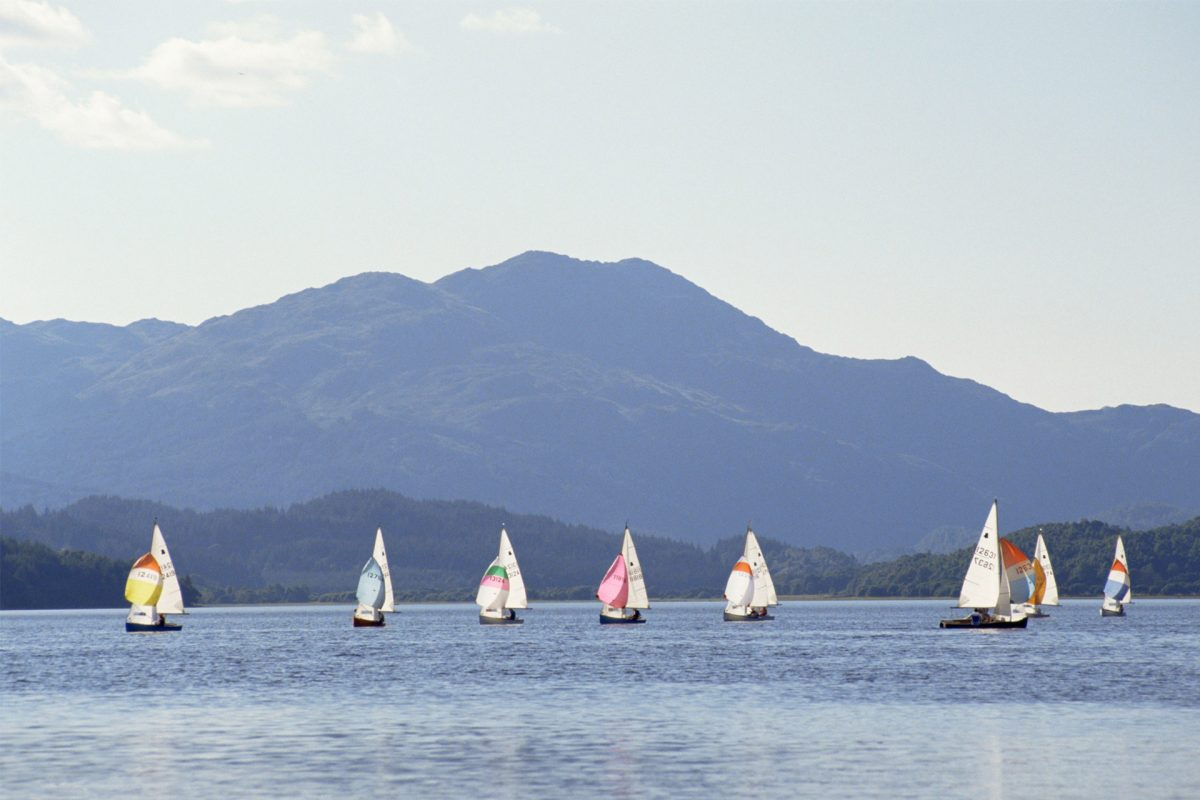Sailing on Loch Venachar, Loch Lomond & The Trossachs National Park