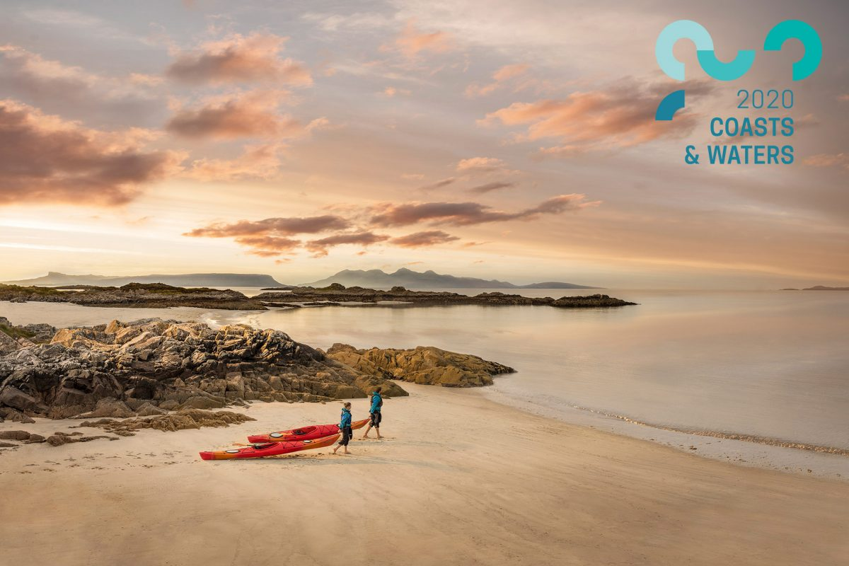Camusdarach Beach in Lochaber is a stunning place for sea kayaking