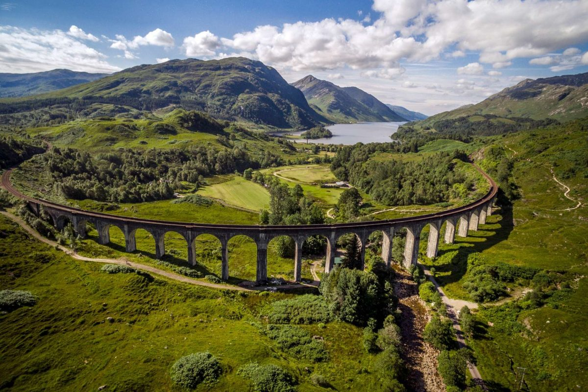 The Glenfinnan Viaduct and Loch Shiel, West Highlands
