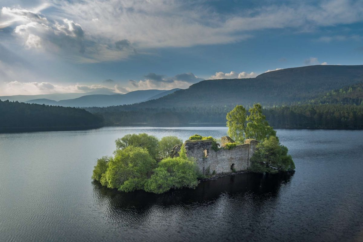 Castle Island, Loch an Eilein, Cairngorms National Park