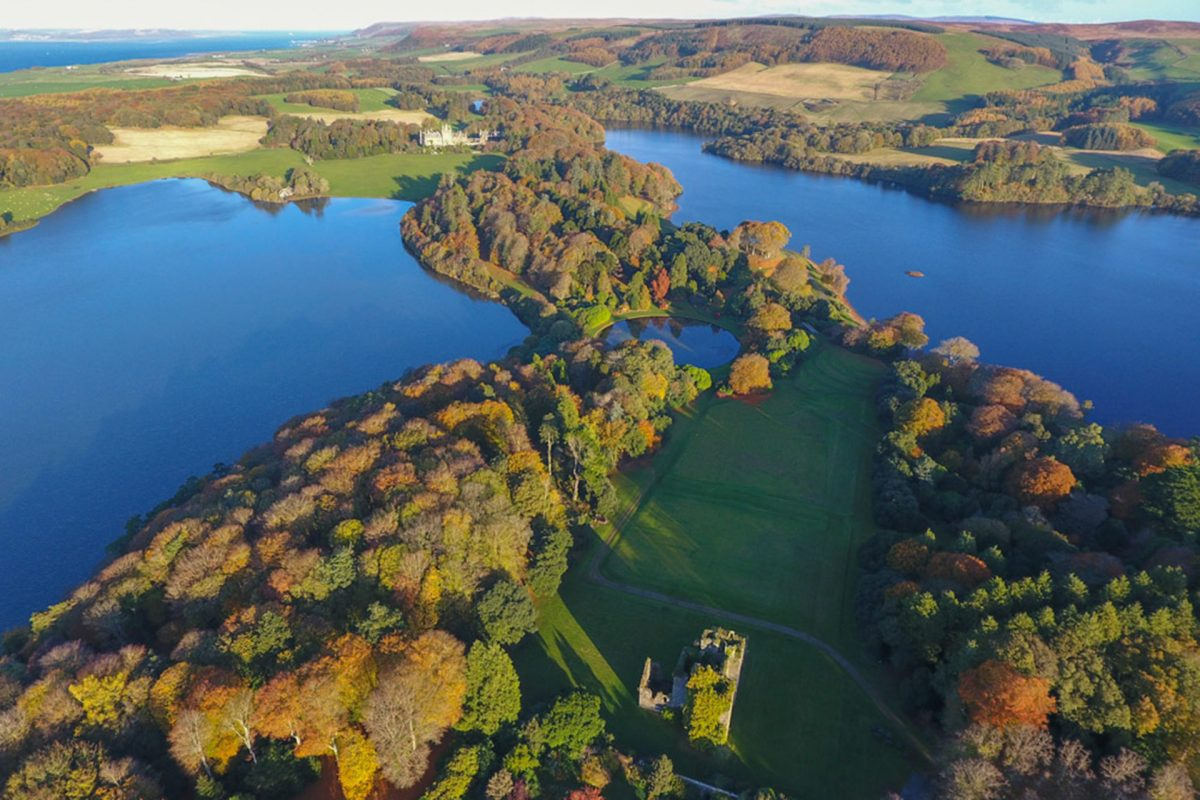 Castle Kennedy and the White and Black lochs, near Stranraer, Dumfries & Galloway
