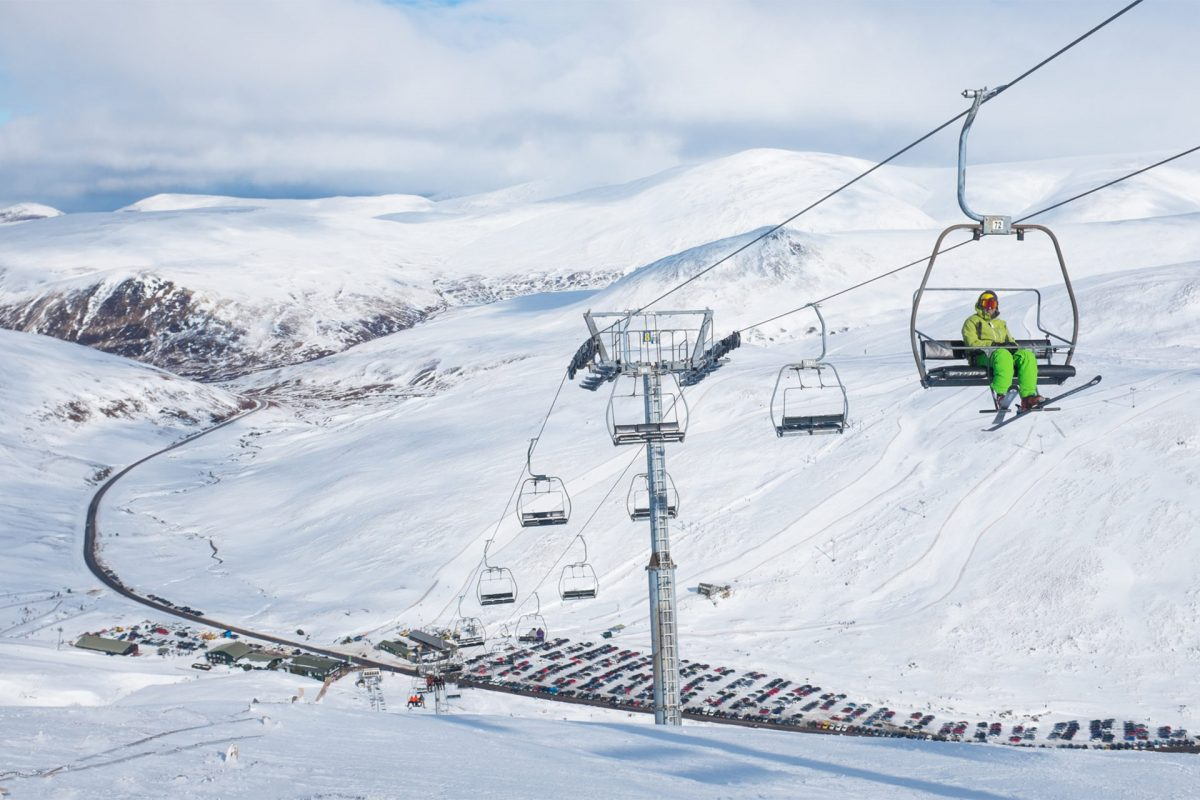 Amazing views over Glenshee Ski Centre, Aberdeenshire