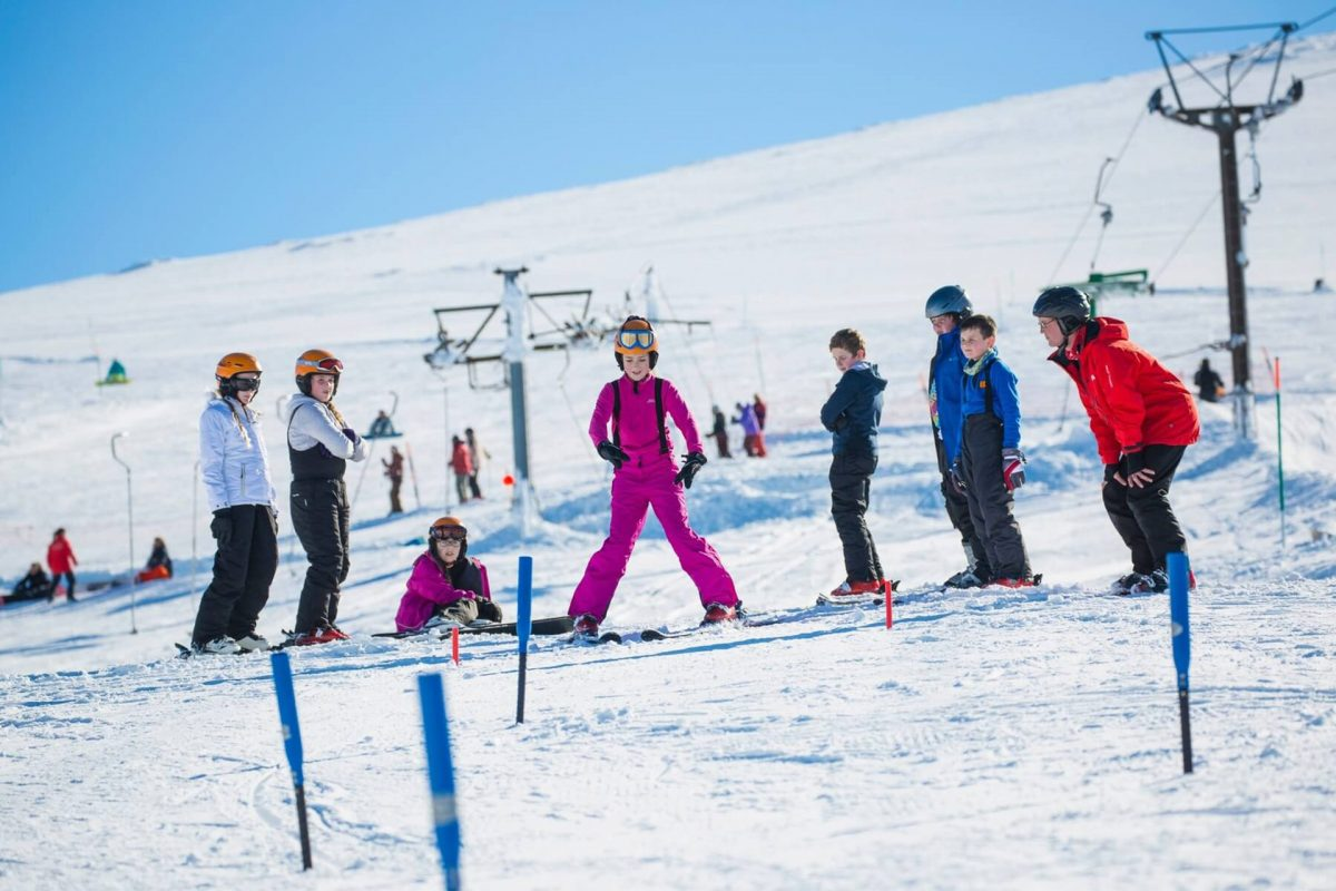 Learning to ski at Cairngorm Mountain