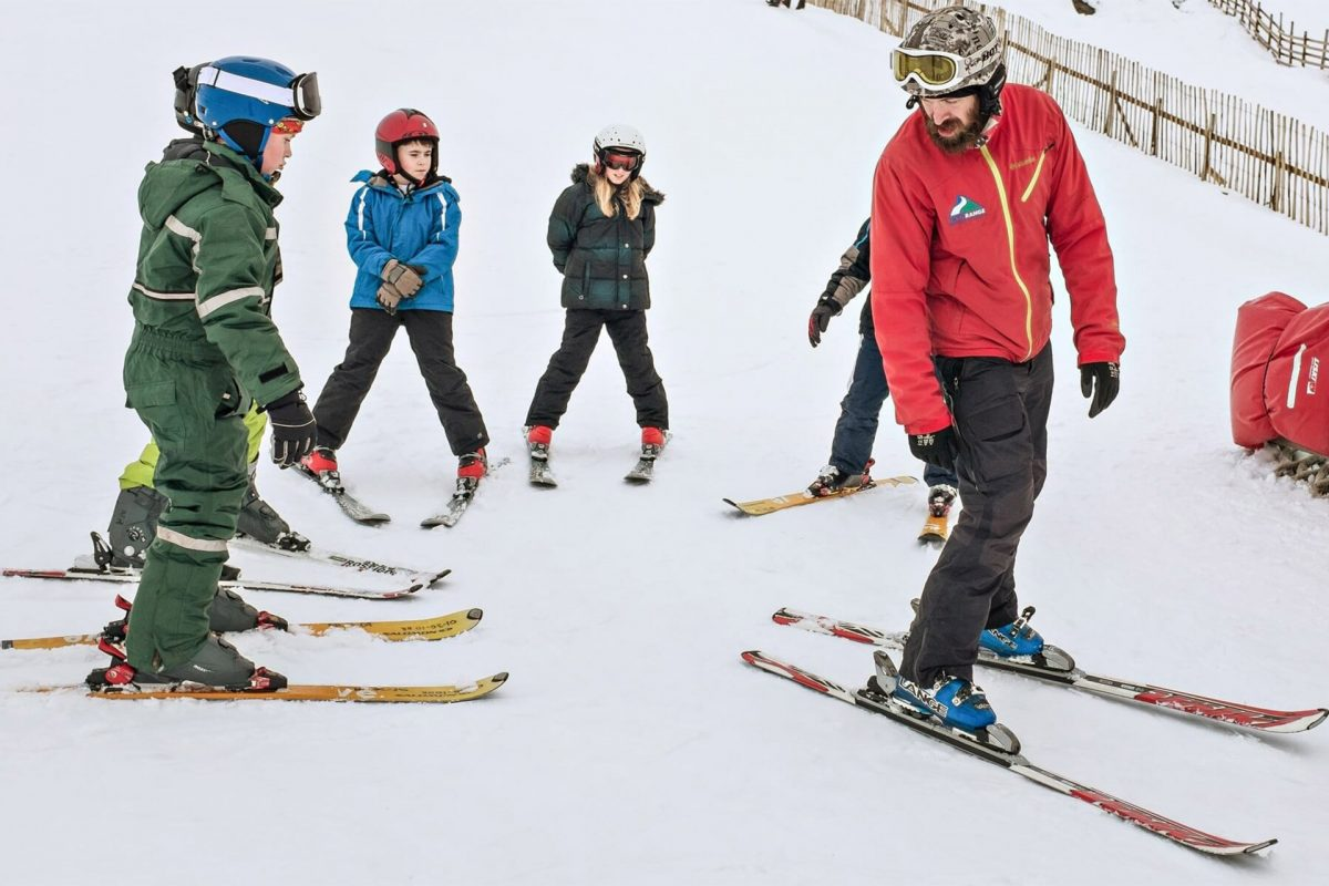 Learning to ski at Nevis Range near Fort William