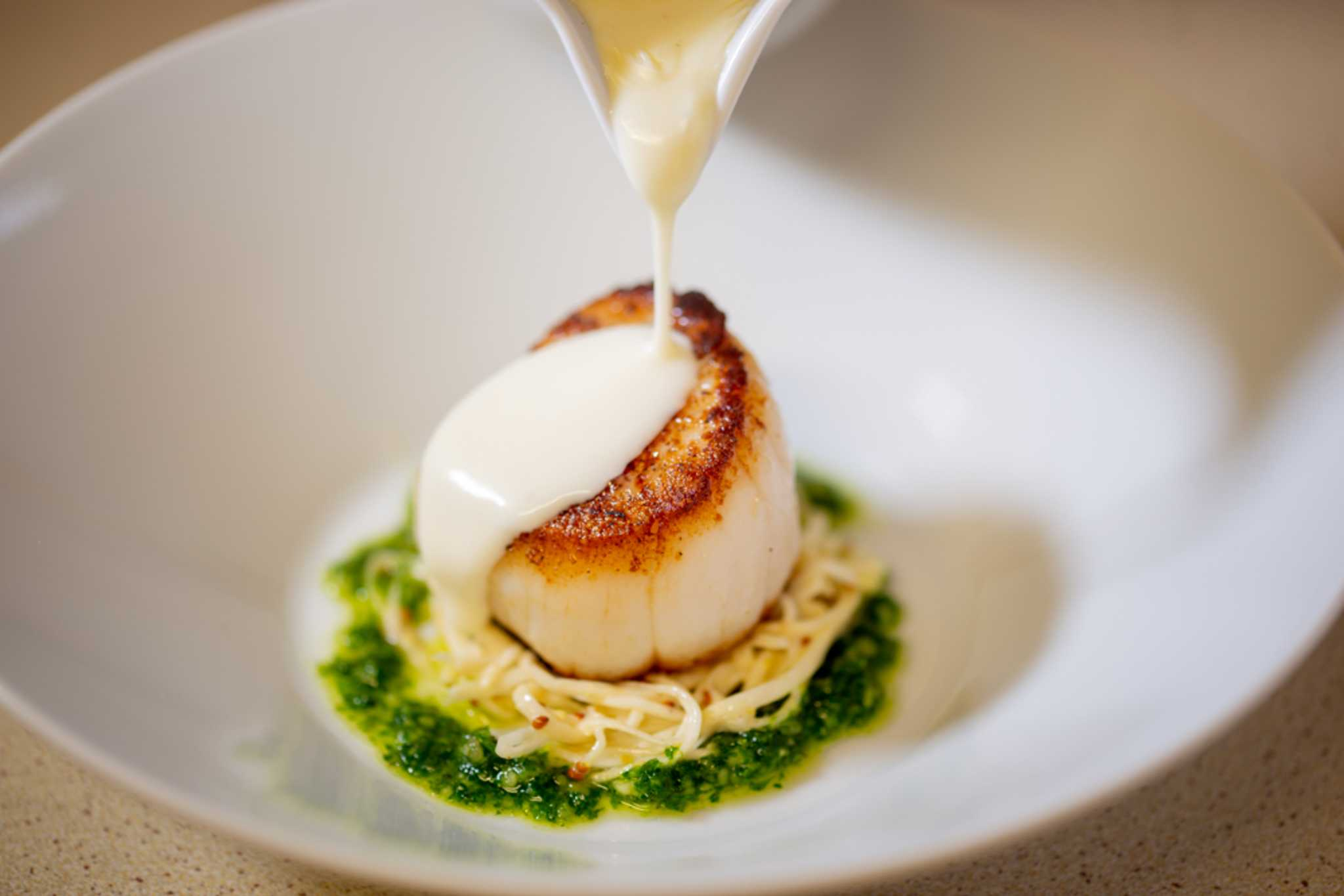 A scallop dish at Blackaddie Country House Hotel, Sanquhar