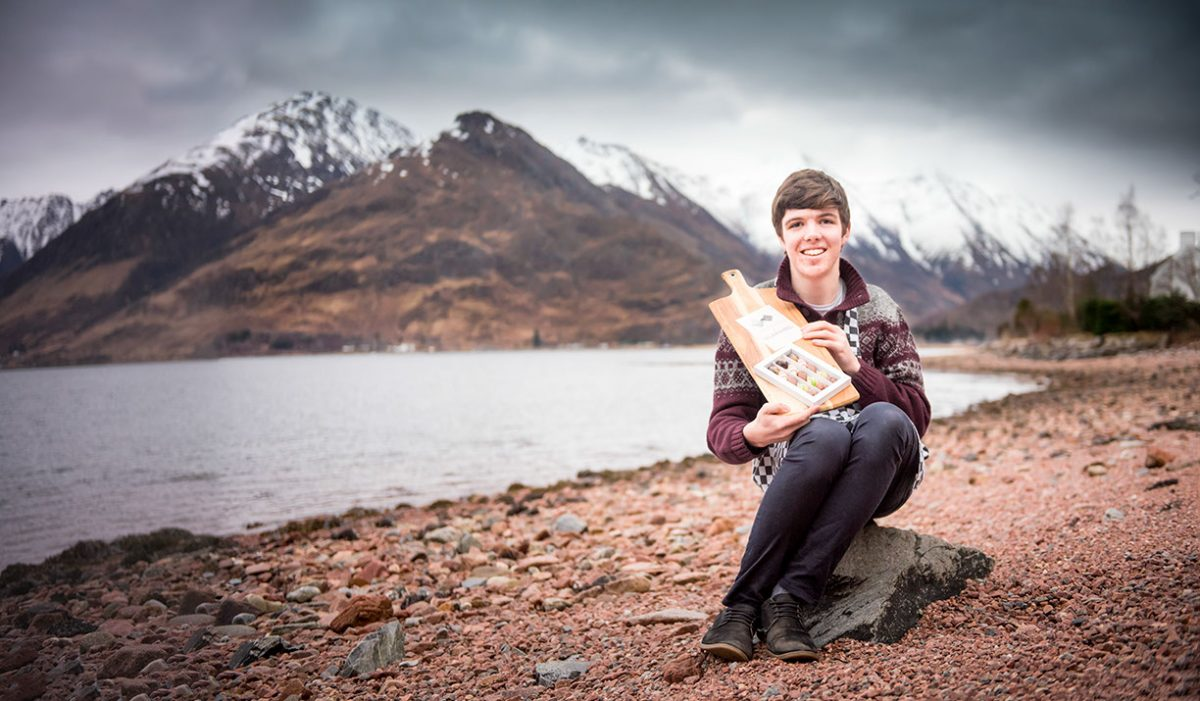 Finlay Macdonald, Chocolates of Glenshiel on the shores of Loch Duich, Kintail