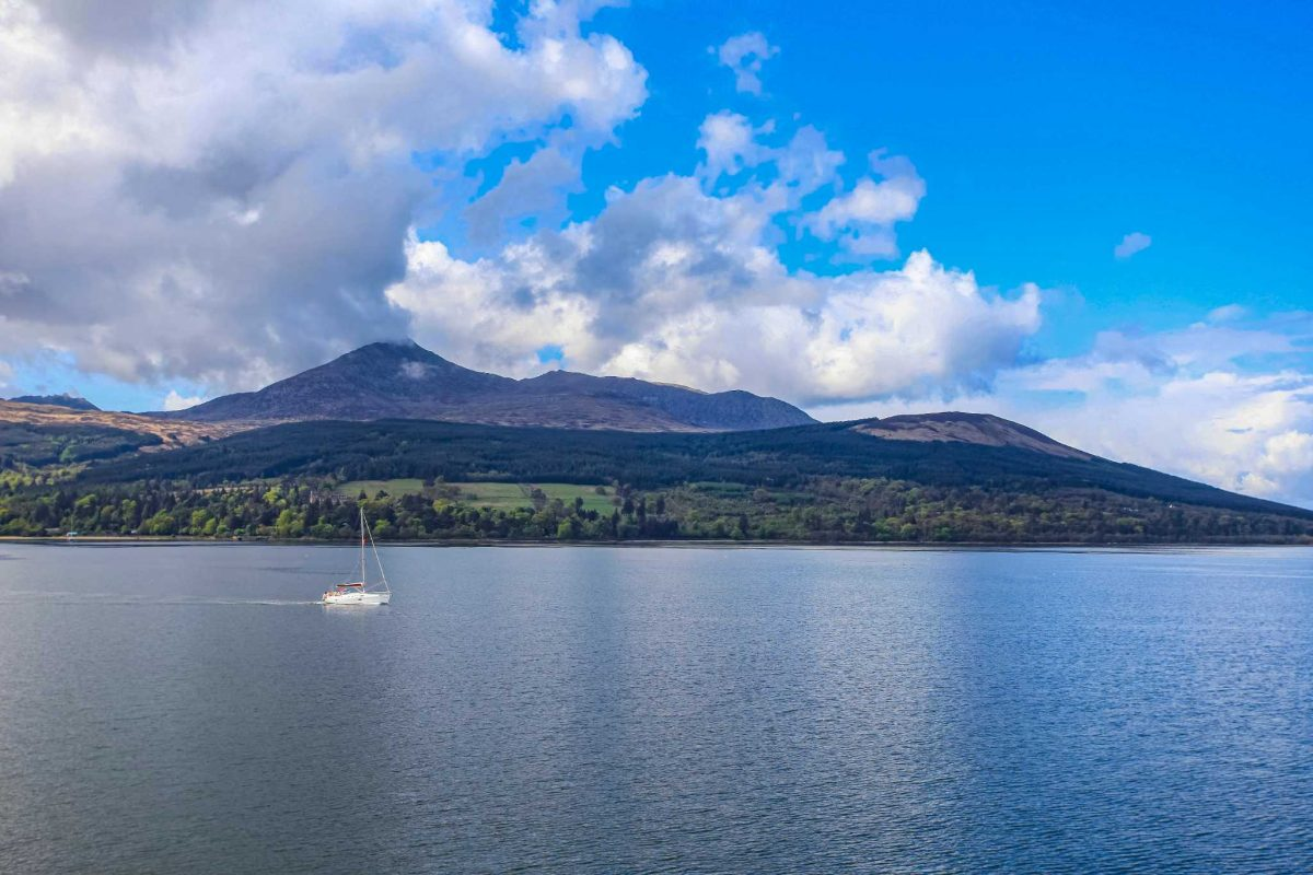 Looking across Brodick Bay to Goat Fell, Isle of Arran