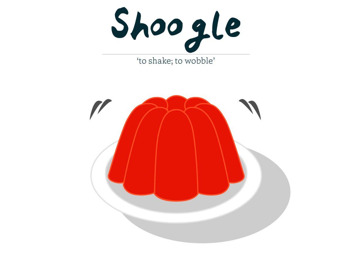 Shoogle - to shake, to wobble
