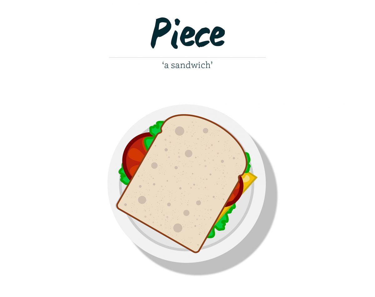 Piece - a sandwich