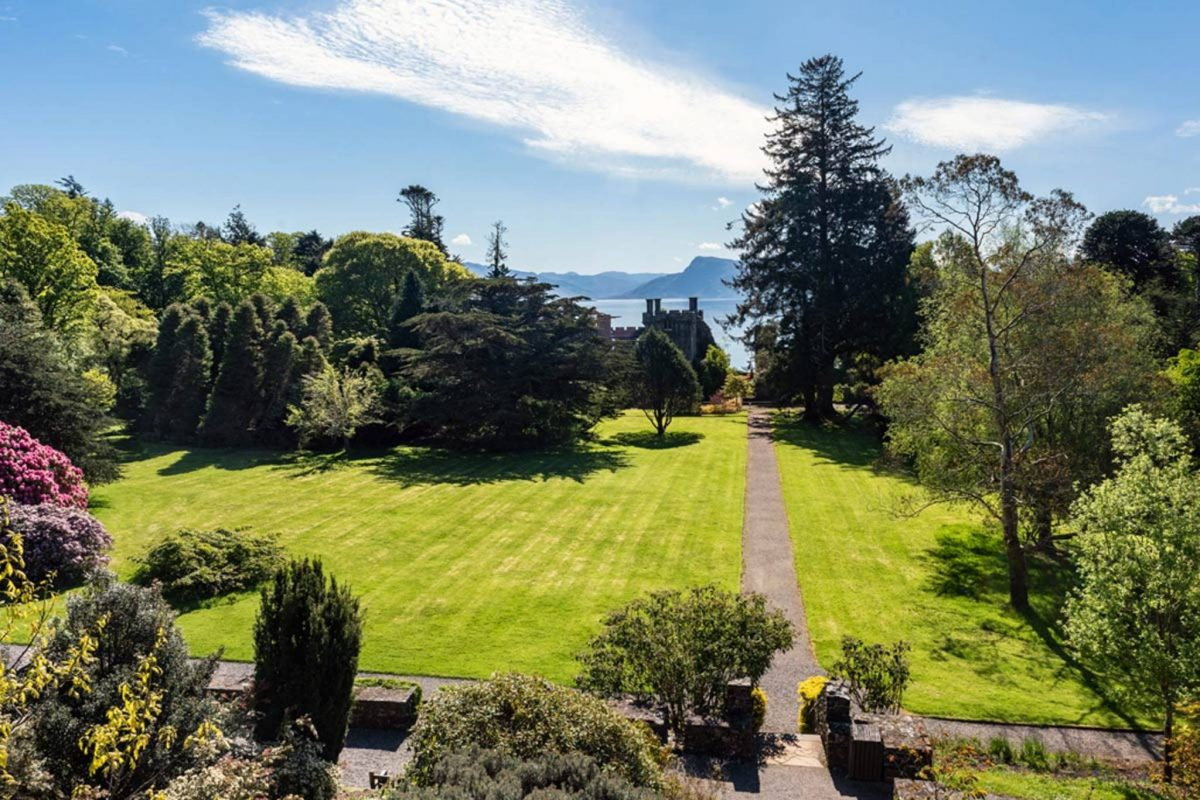 Stunning views over Armadale Castle gardens, Isle of Skye