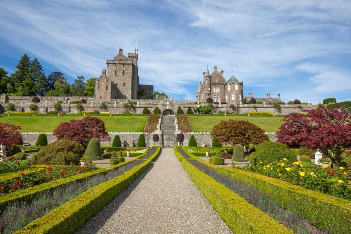 Drummond Castle Gardens near Crieff are amongst the biggest in Scotland