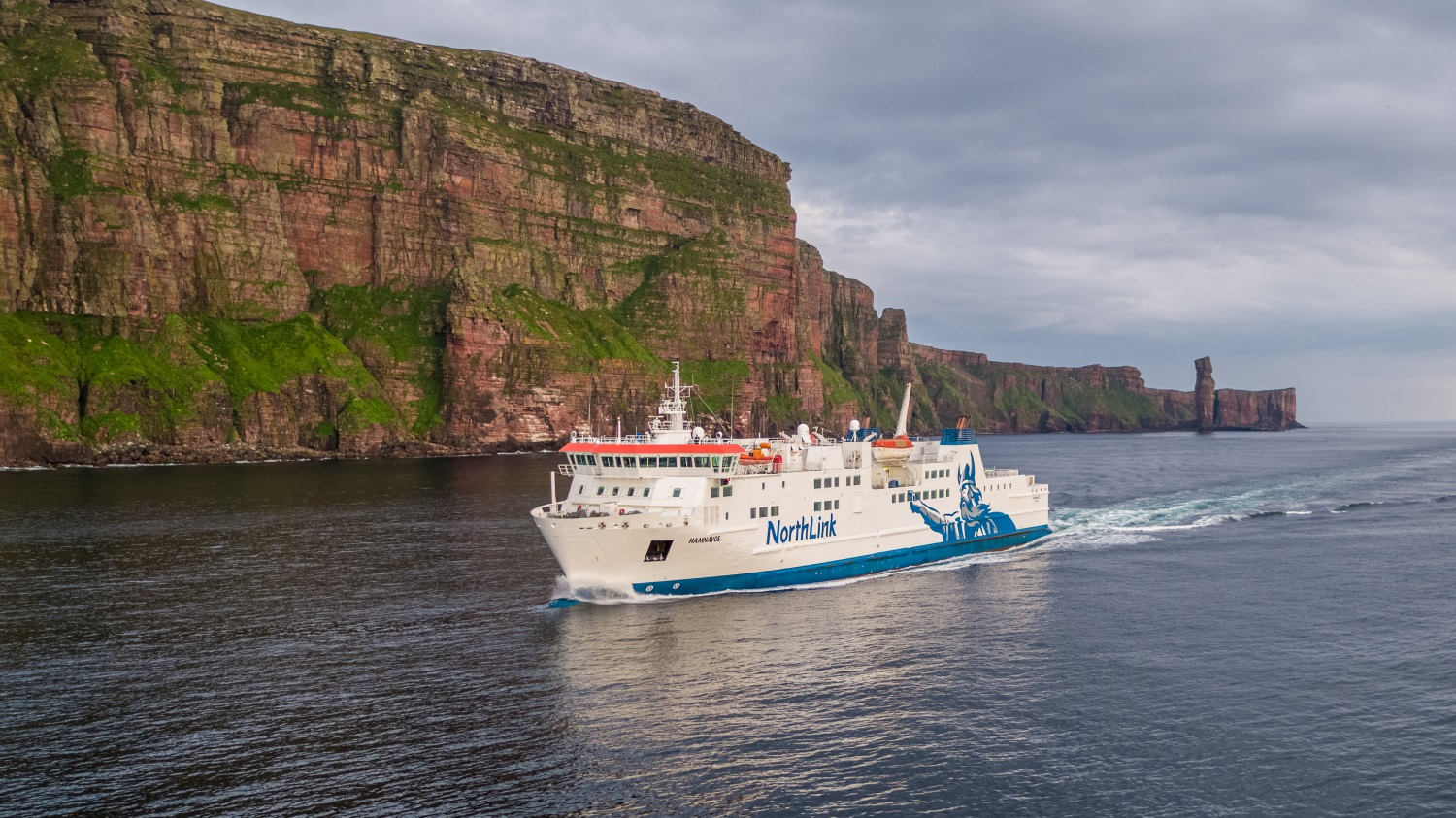 NorthLink Ferry off the Old Man of Hoy, Orkney © NorthLink Ferries