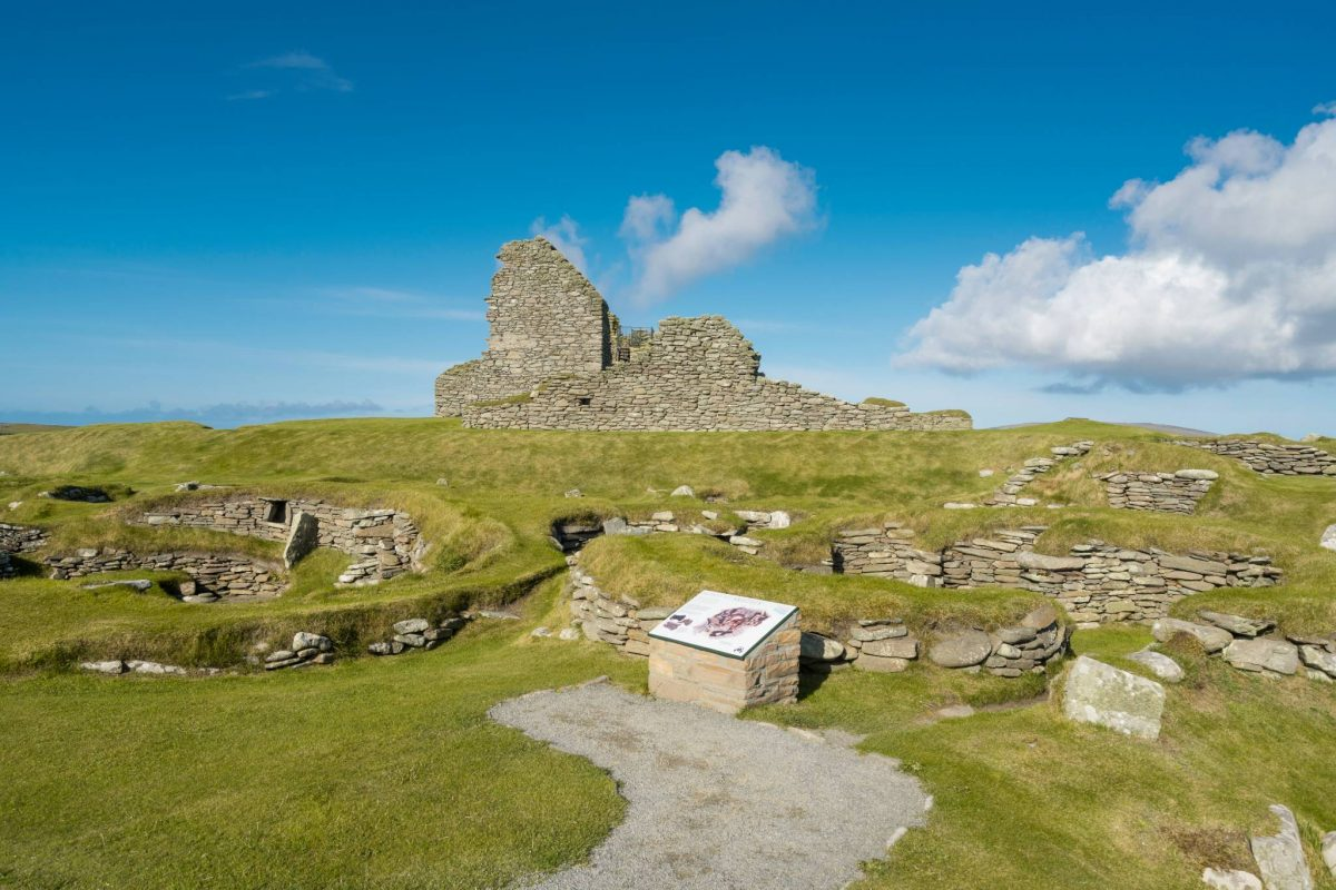 Jarlshof settlement, Sumburgh, Shetland Islands