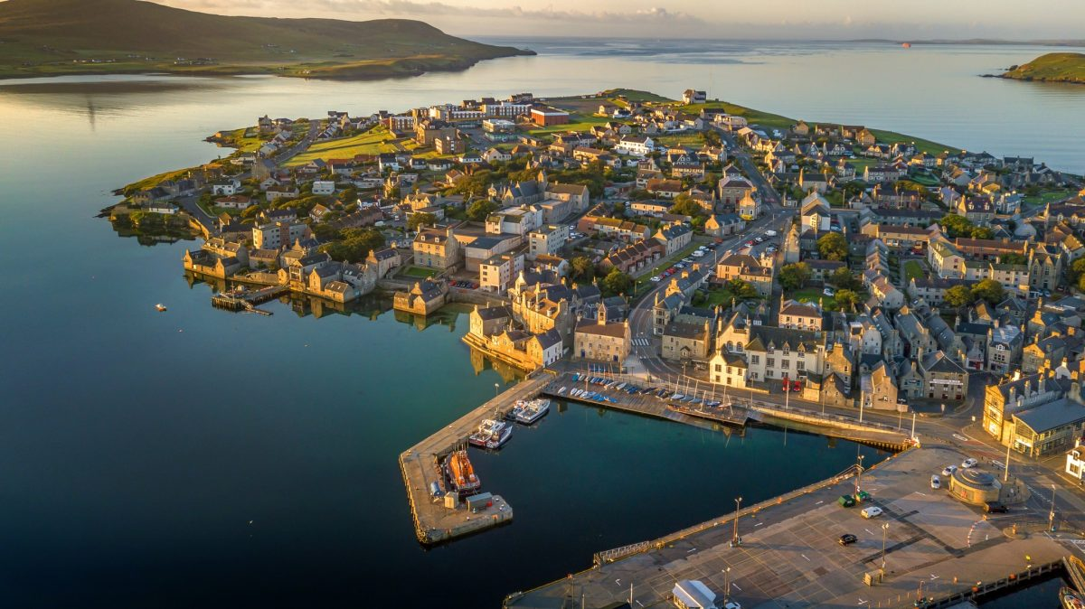 Lerwick from above, Shetland